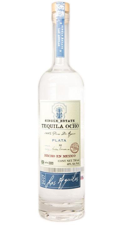 Bottle of Ocho Tequila Plata - Las Aguilas 2017