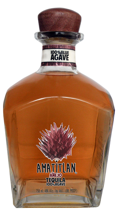 Bottle of Amatitlan Tequila Añejo