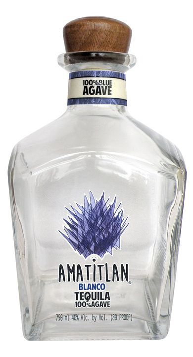 Bottle of Amatitlan Tequila Blanco