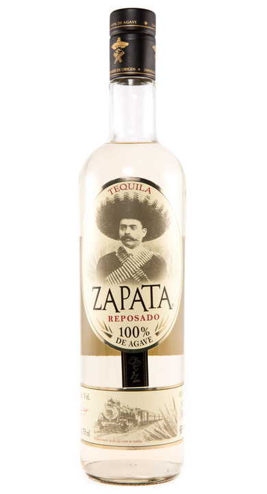 Bottle of Zapata Tequila Reposado