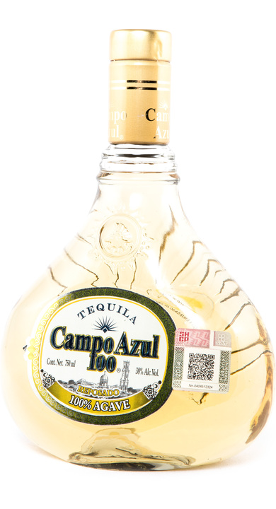 Bottle of Campo Azul 100 Reposado