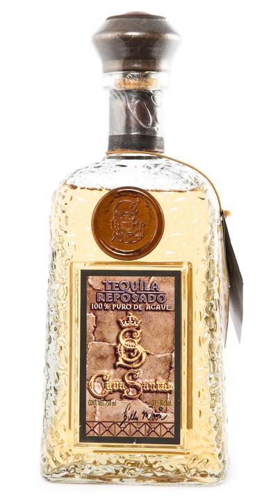 Bottle of Cava Santa Tequila Reposado