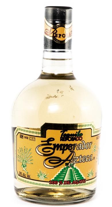 Bottle of Emperador Azteca Tequila Reposado