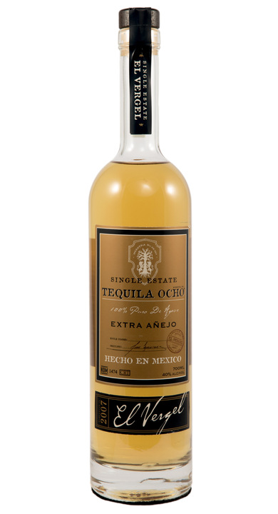 Bottle of Ocho Tequila Extra Añejo - El Vergel 2007