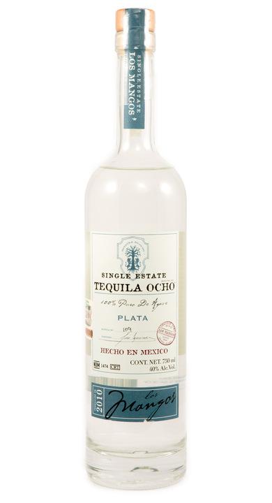 Bottle of Ocho Tequila Plata - Los Mangos 2010