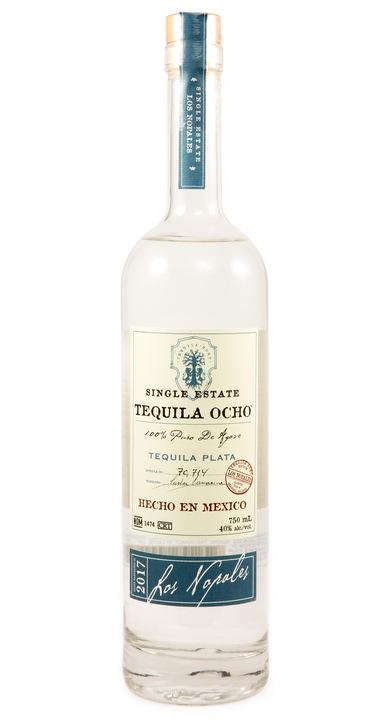 Bottle of Ocho Tequila Plata - Los Nopales 2017
