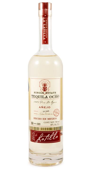 Bottle of Ocho Tequila Añejo - La Latilla 2015