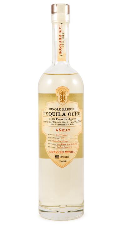 Bottle of Ocho Tequila Añejo (Single Barrel) - Los Fresnos 2013