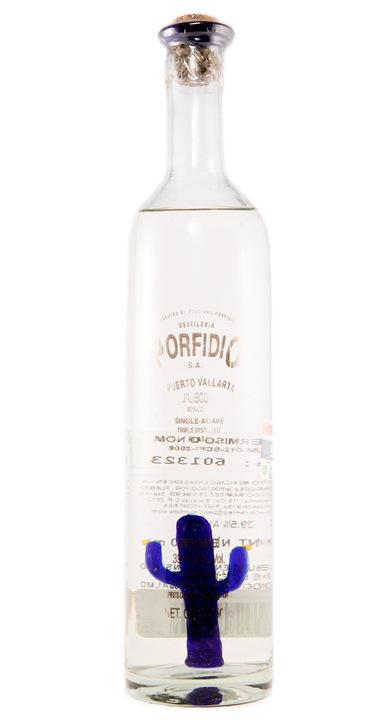 Bottle of Porfidio Tequila Plata Triple Distilled
