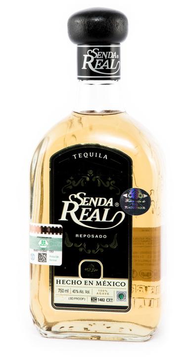 Bottle of Senda Real Reposado