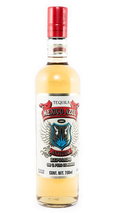 Bottle of México Azul Antiguo Reposado