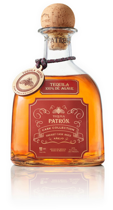 Bottle of Patrón Cask Collection Sherry Añejo