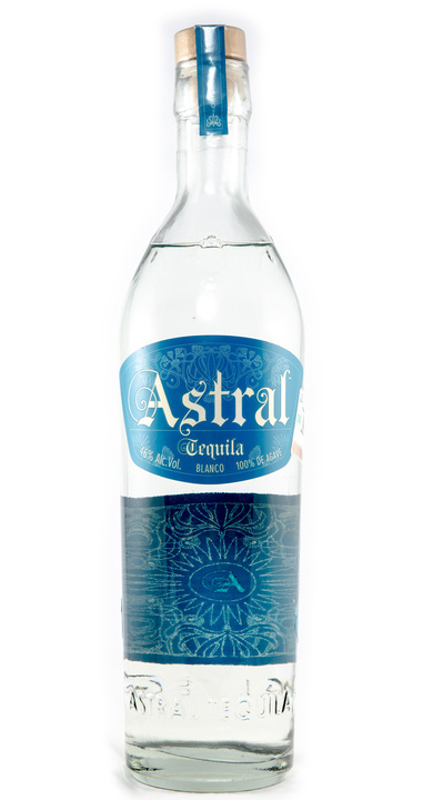 Bottle of Astral Tequila Blanco