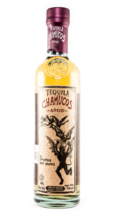 Bottle of Chamucos Añejo