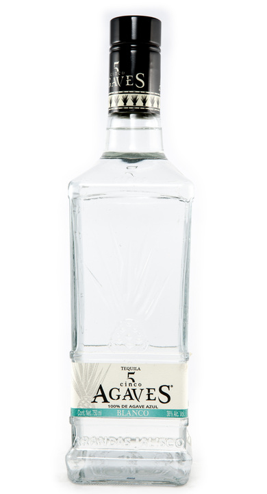 Bottle of Tequila Cinco Agaves Blanco