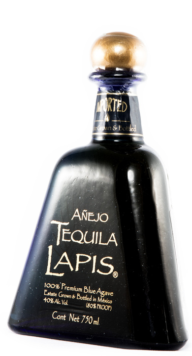 Bottle of Lapis Tequila Añejo