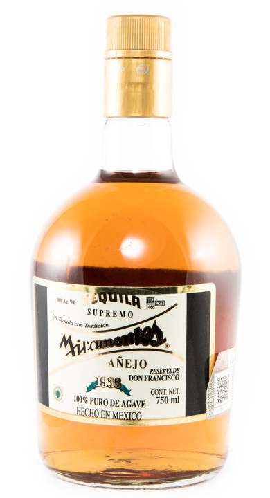 Bottle of Miramontes Añejo Reserva de Don Francisco