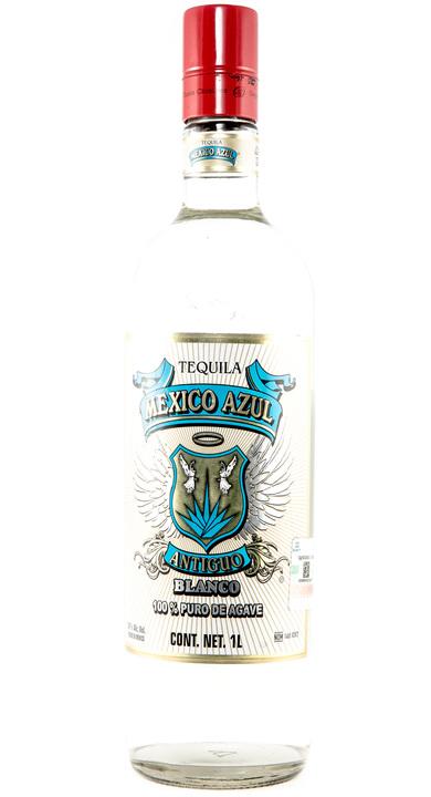 Bottle of México Azul Antiguo Blanco