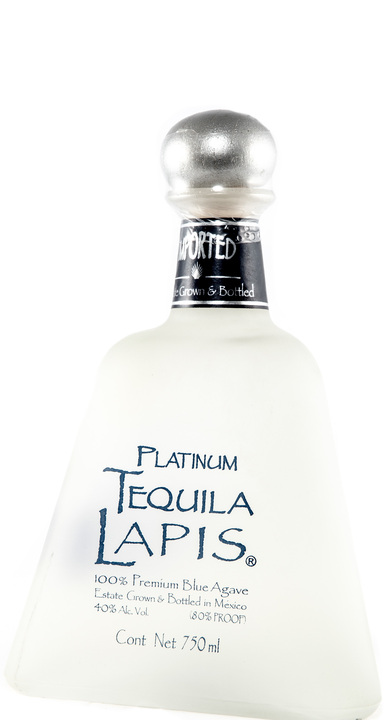 Bottle of Lapis Tequila Platinum