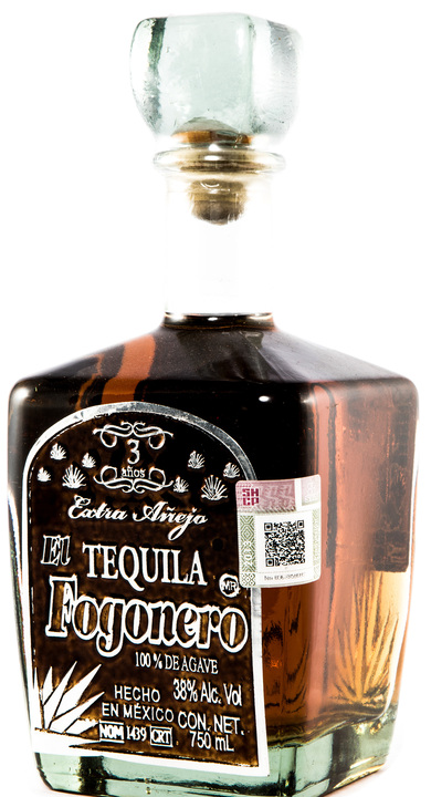 Bottle of El Fogonero Extra Añejo
