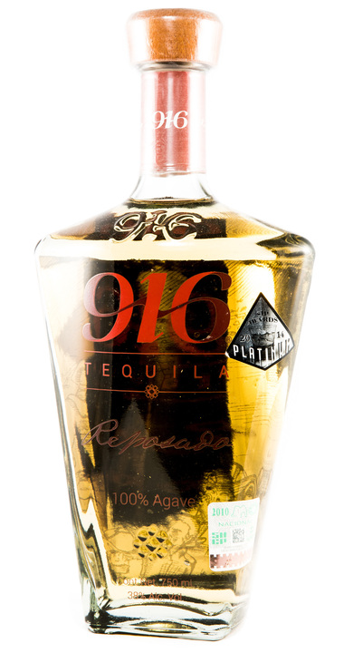 Bottle of 916 Tequila Reposado