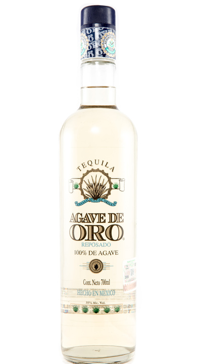 Bottle of Agave de Oro Reposado
