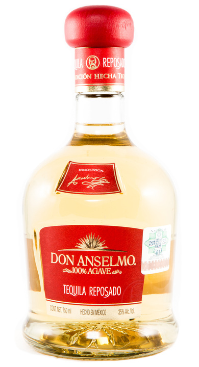 Bottle of Don Anselmo Tequila Reposado