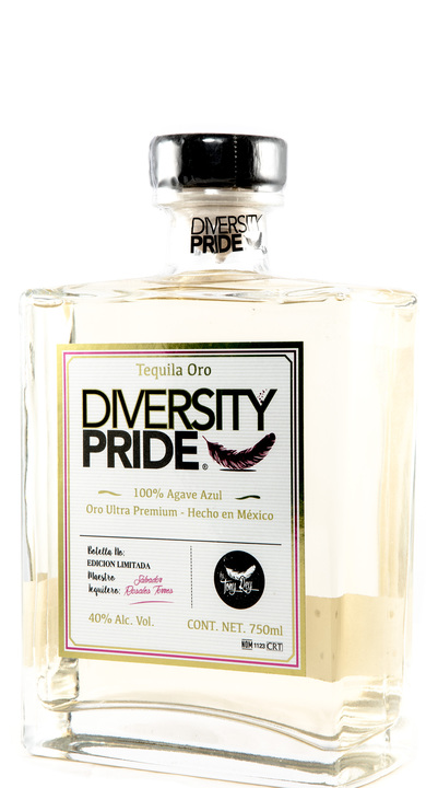 Bottle of Diversity Pride Tequila Oro
