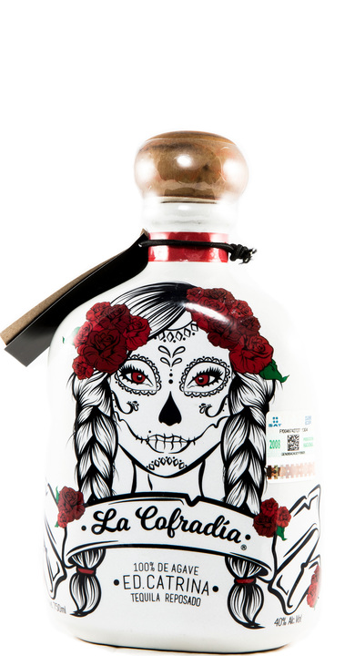 Bottle of La Cofradia Reposado (Catrina Edicion)