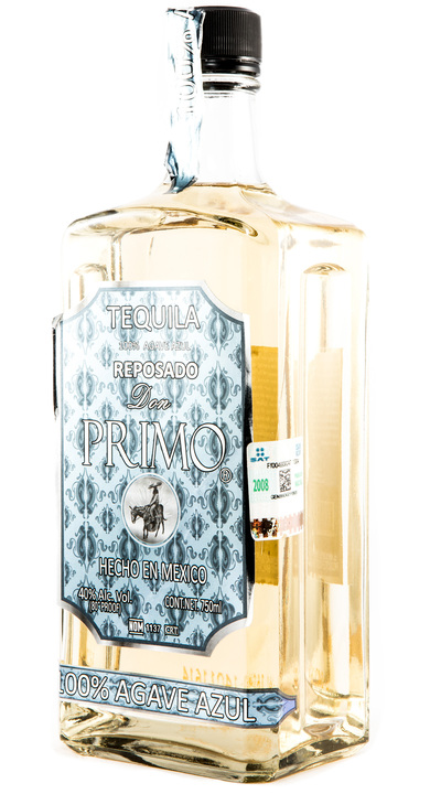 Bottle of Don Primo Tequila Reposado