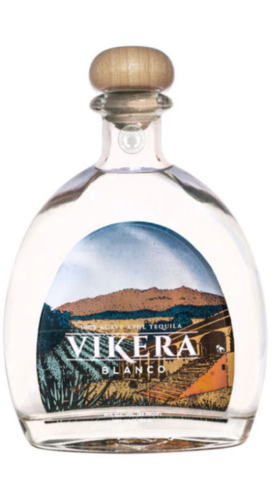 Bottle of Vikera Tequila Blanco