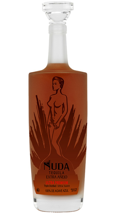 Bottle of Nuda Tequila Extra Añejo