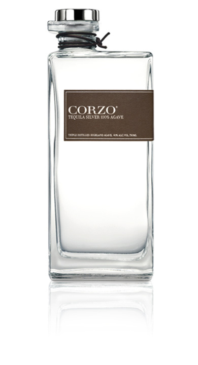 Bottle of Corzo Silver Tequila