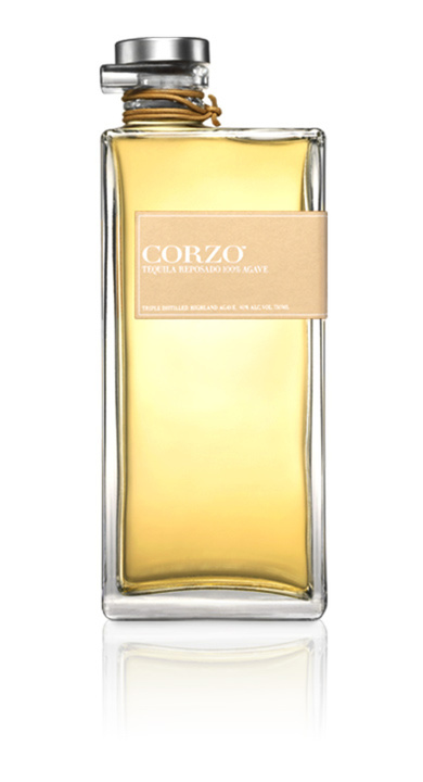 Bottle of Corzo Reposado Tequila
