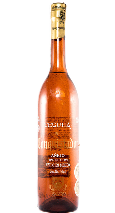 Bottle of El Conquistador  Añejo Tequila