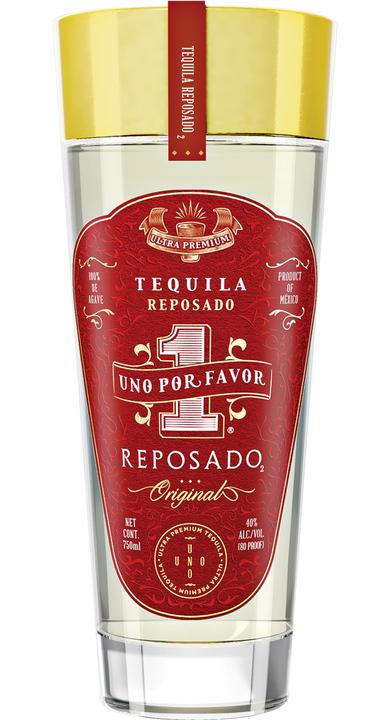 Bottle of Uno Por Favor Tequila Reposado