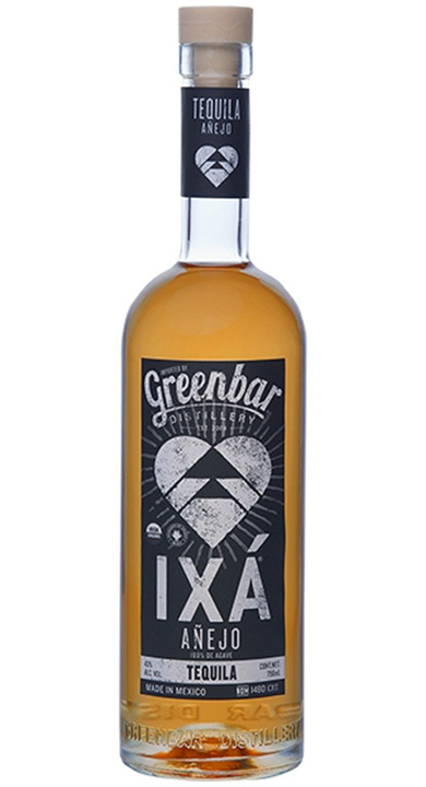 Bottle of IXA Organic Añejo Tequila