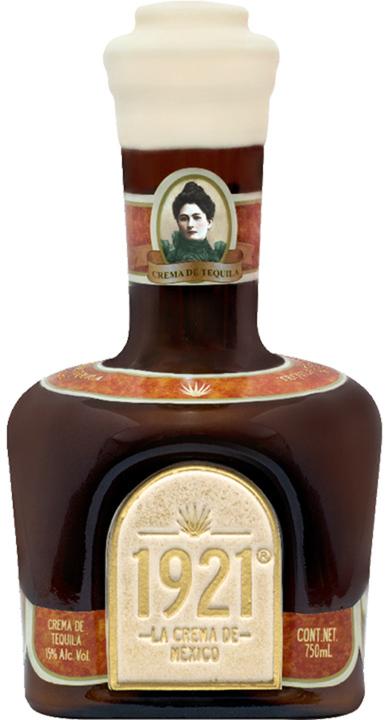 Bottle of 1921 Crema de Tequila