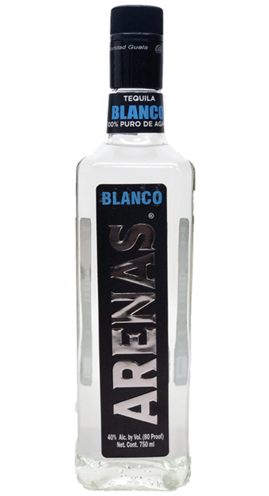 Bottle of Arenas Blanco Tequila