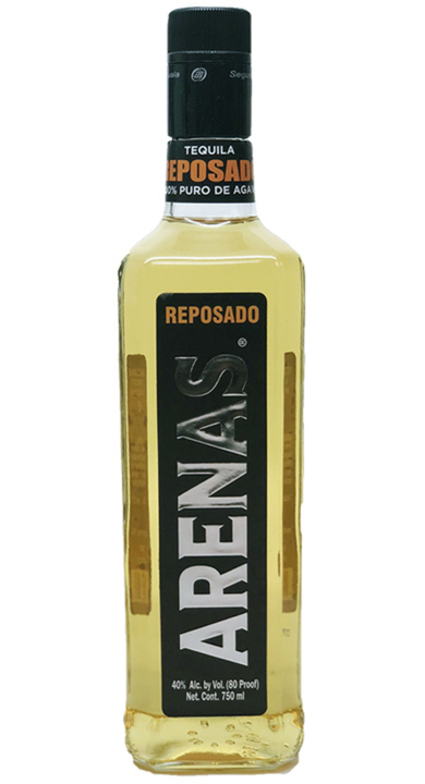 Bottle of Arenas Reposado Tequila