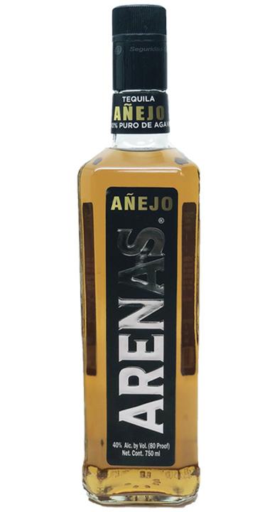 Bottle of Arenas Añejo Tequila