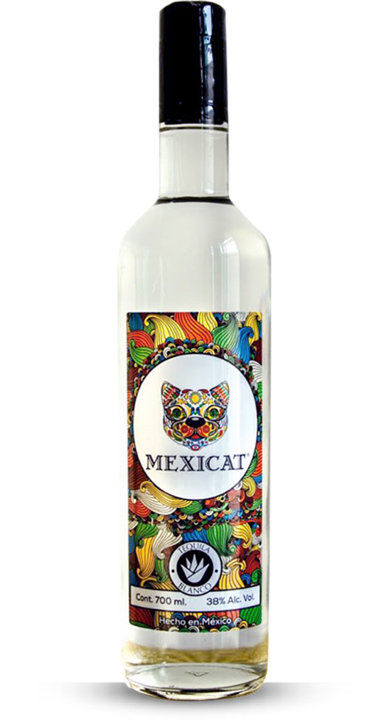 Bottle of Mexicat Tequila Blanco
