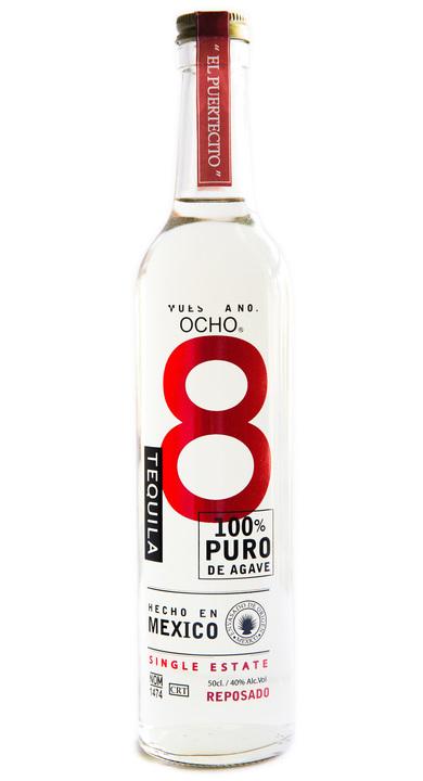 Bottle of Ocho Tequila Reposado - El Puertecito 2011