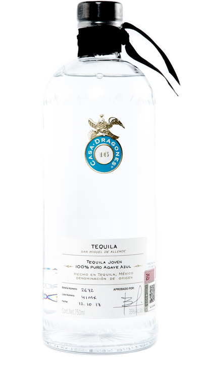 Bottle of Casa Dragones Sipping Tequila