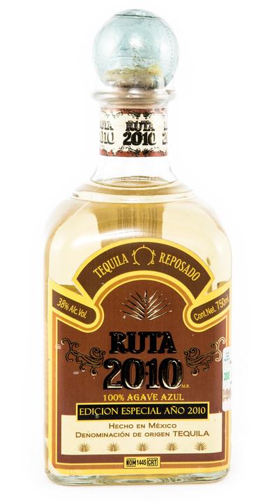 Bottle of Ruta 2010 Tequila Reposado