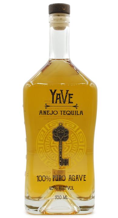 Bottle of YaVe Añejo Tequila
