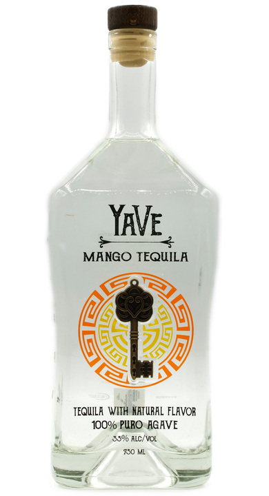 Bottle of YaVe Mango Tequila