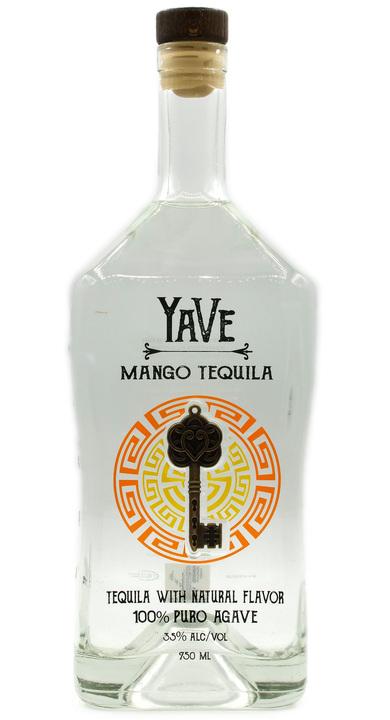 Bottle of YaVe Mango Tequila