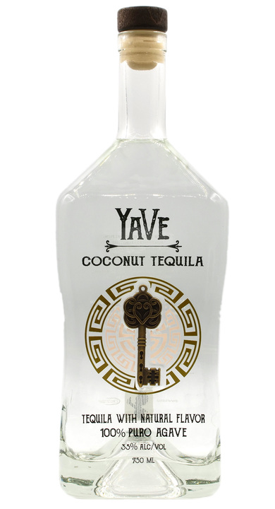 Bottle of YaVe Coconut Tequila