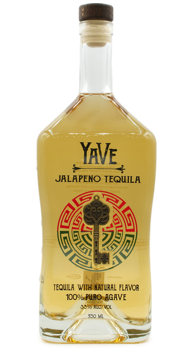 Bottle of YaVe Jalapeño Tequila